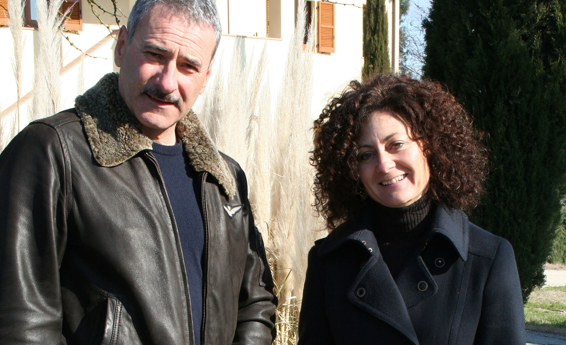 Norbert e Priska, azienda La Saporita a Paciano